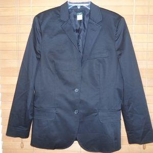 NWOT J. Crew Black Fully Lined 2 Button Blazer